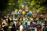UNCG students enjoy the Residence Life Carnival on Saturday, August 23, 2014. (Chris English/UNCG Photo)