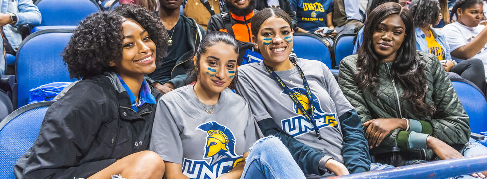 Members of the UNCG student section
