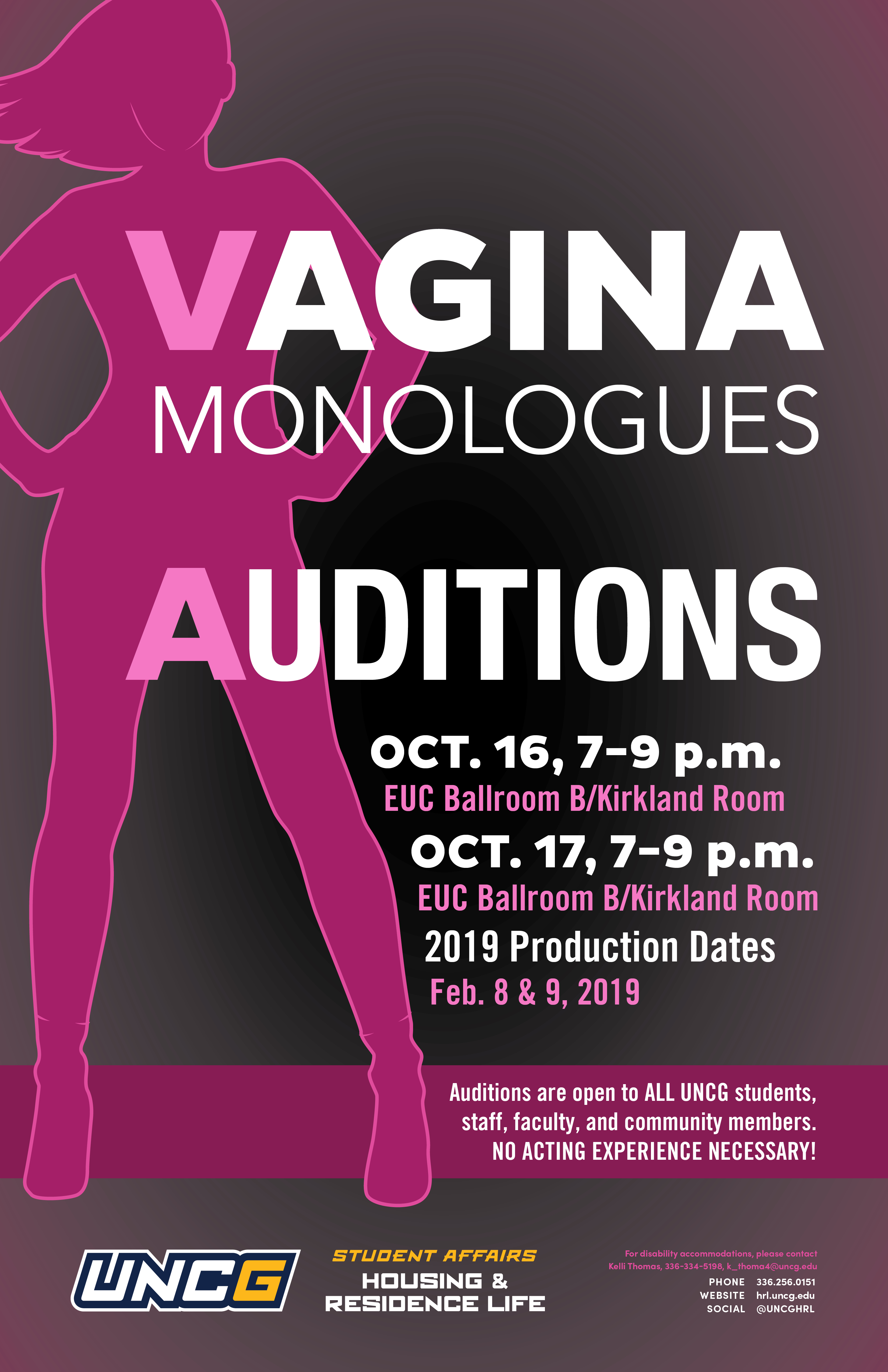 Vagina Monologue Auditions