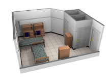 Standard double room layout