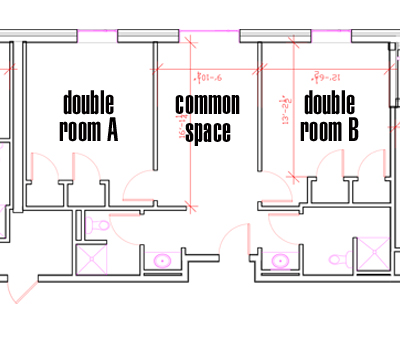 A double suite configuration