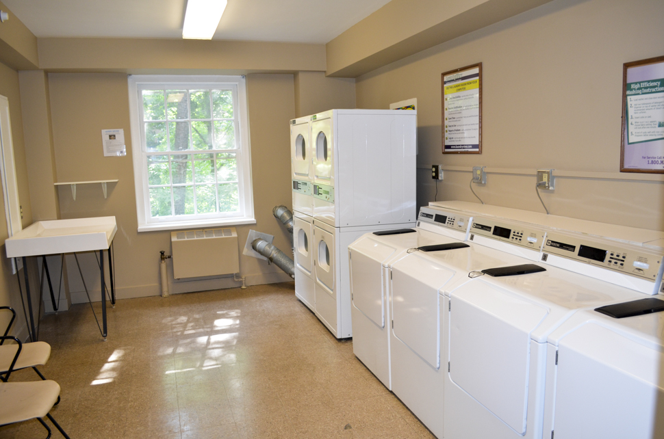 The laundry room in Ragsdale/Mendenhall
