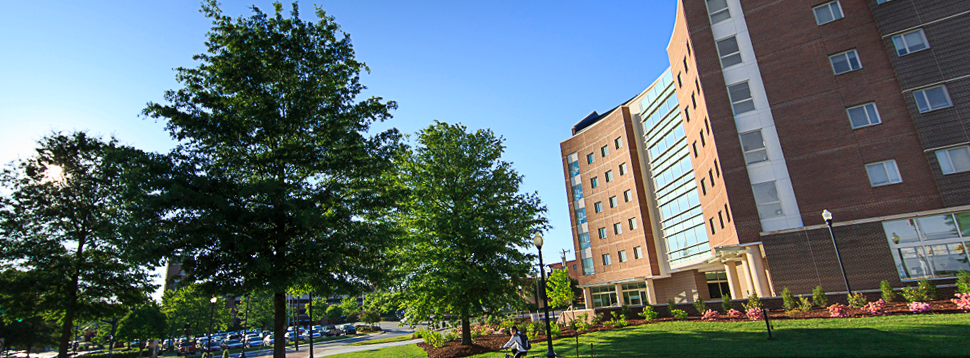 A view of Jefferson Suites Residence hall
