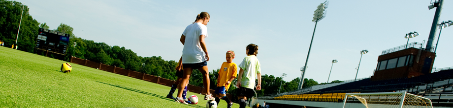 Soccer camp fun in the summer