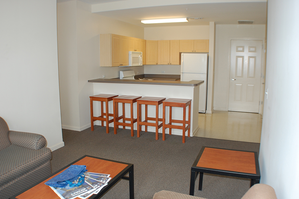 a typical kitchen inside and apartment - Spring Garden Apartments